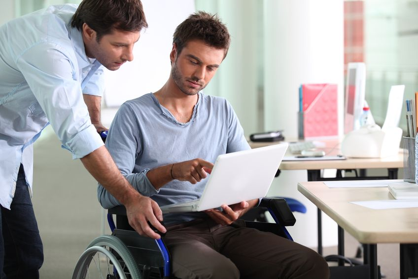 Disabled California employee receives a reasonable accommodation.